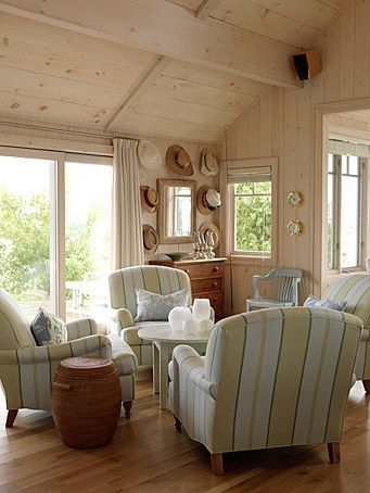 Sarah's richardsons farmhouse | Sarah Richardson's Cottage Living Room and a Feature on Remodelaholic