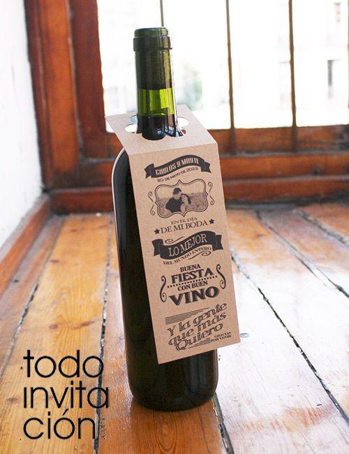 Botellas De Vino Para Regalar En Bautizos.Etiqueta Personalizada Vino 2 Bodas Pack De 10 Unid