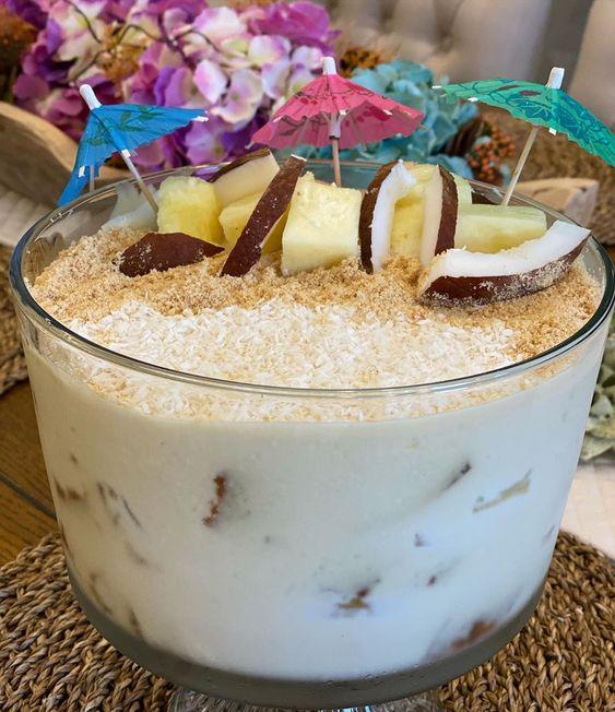 Noor Alghannam On Instagram بيناكولادا سويت المقادير كيك جوز الهند الجاهز كوب اناناس نص كوب جوز الهند خلطه Dessert Recipes Desserts Food