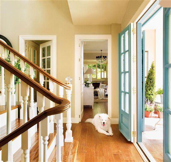 love the aqua doors!
