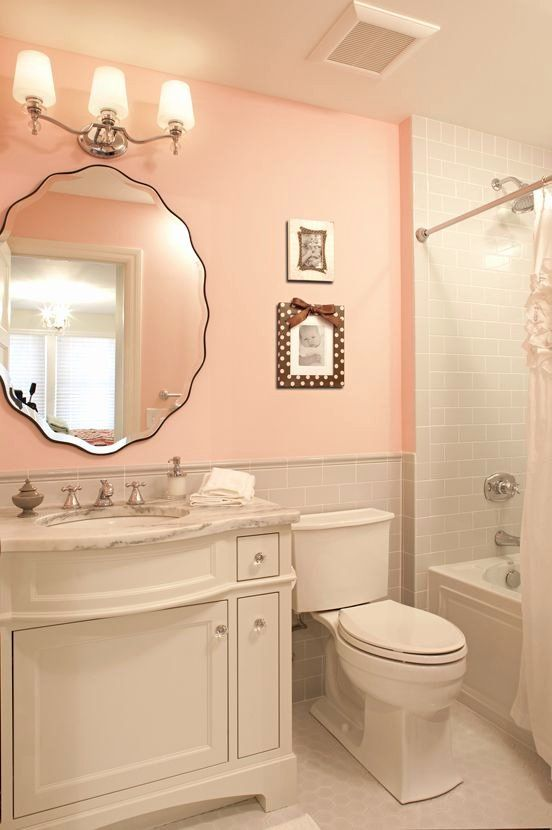 Gray And Pink Bathroom Ideas Inspirational Best 25 Peach Bathroom Ideas On Pinterest In 2020 Girl Bathrooms Girly Bathroom Coral Bathroom Decor
