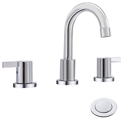 Phiestina Two Handle 8 Inch Widespread Bathroom Sink Faucet With