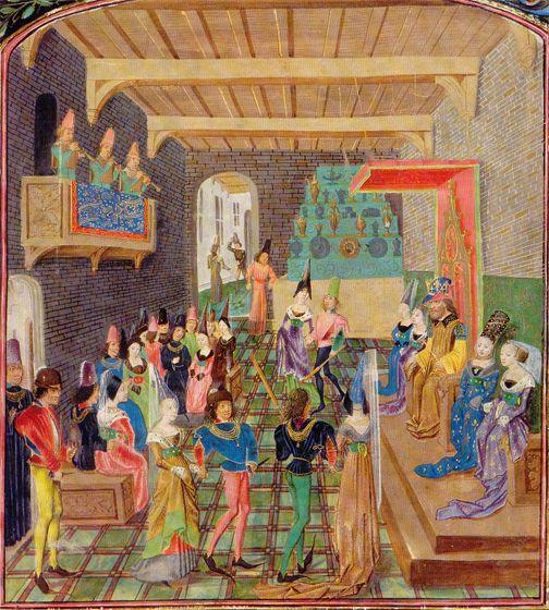 Chroniques de Angleterre, ca. 1470. Vienna, Osterreichische nationalbibliothek Cod. 2534 fol. 17r. http://thomasguild.blogspot.com/2012_02_01_archive.html: