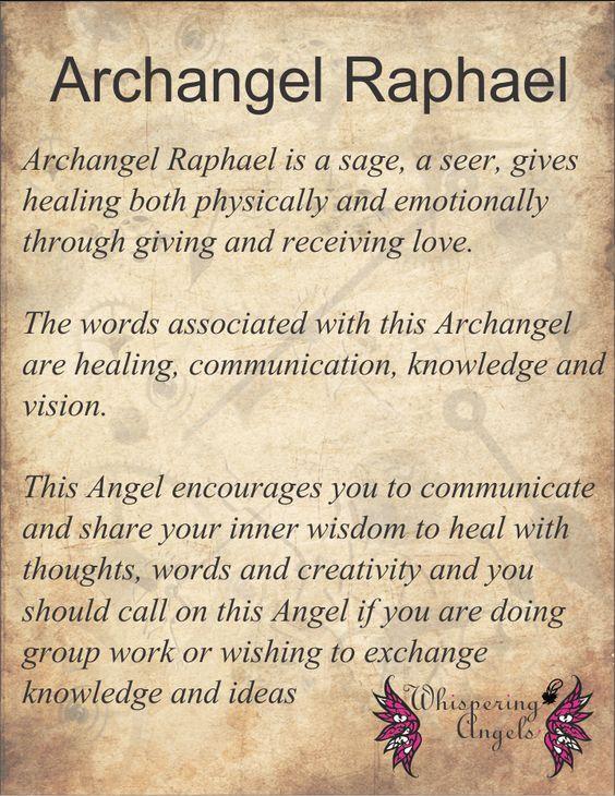 Archangel Raphael http://www.whisperingangels.co.za