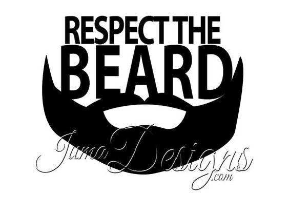Respect The Beard - iPhone, iPad Car, Macbook, Laptop, Truck, Wall Vinyl Decal