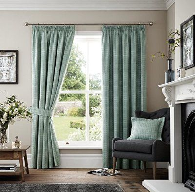Curtains, Colour and Blue on Pinterest