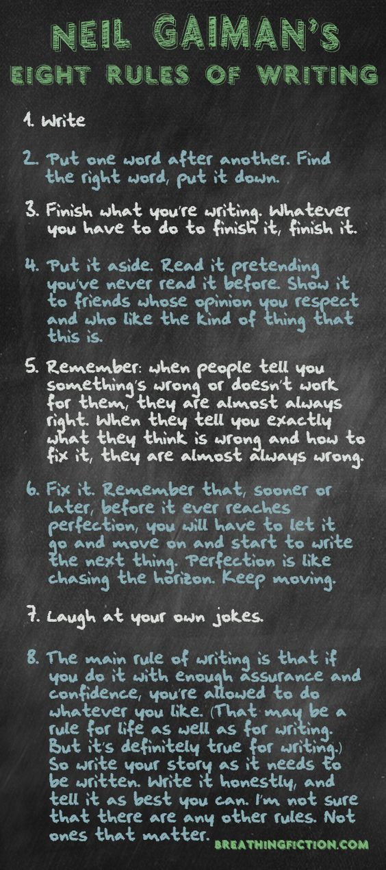 8 Rules forWriting by Neil Gaiman