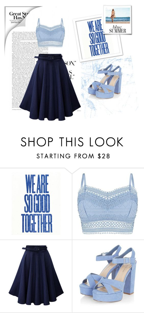 """""""Blue Sky !"""" by maya-world ❤ liked on Polyvore featuring Lipsy"""