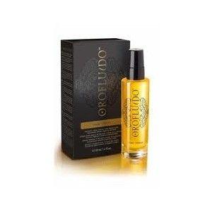 Spray Brillo Oro Fluido 50 ml - Un tratamiento a base de tres aceites naturales (argán, lino y cípero) que realza, recupera y potencia la belleza del cabello. Aporta brillo y una ligereza asombrosa. #OroFluido #Champu #Revlon #Cabello