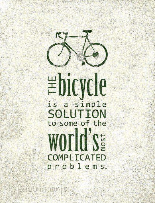 We take the bike.
