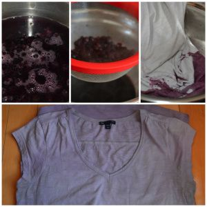 Blueberry dyed t-shirt!