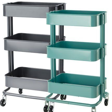 Ikea raskog kitchen cart turquoise raskog metal rolling bedroom hall home - Chariot a roulettes ikea ...
