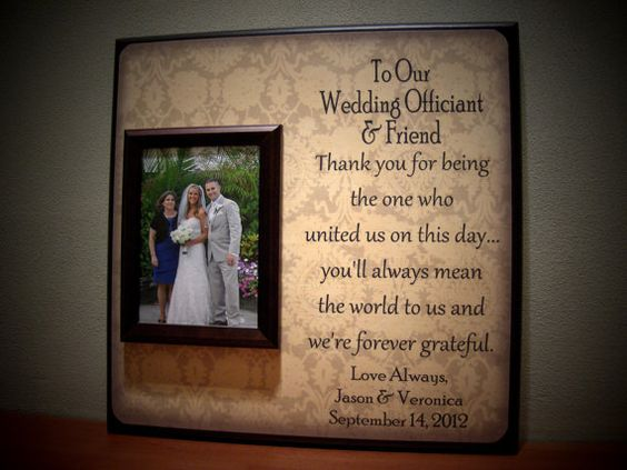 Wedding Officiant Gift Ideas: Thank You Pictures, Wedding Officiant And Wedding Thank