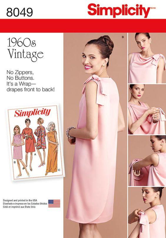Resultado de imagen de simplicity retro dress