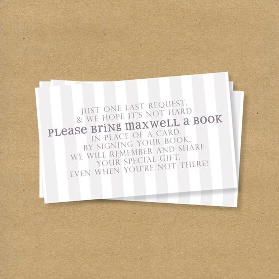bring a book instead of a card children 39 s book themed baby shower