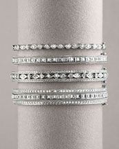 """Diamond rings- my idea of """"push presents."""" One for each baby, stack as you go..."""