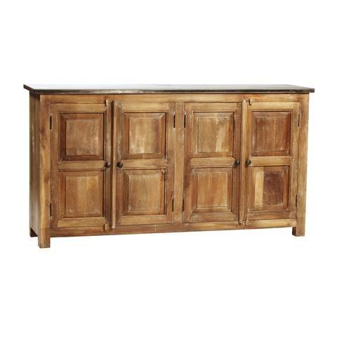 Zinc Top Sideboard Dovetail Furniture Kitchen Sideboard Cabinet Kitchen Sideboard