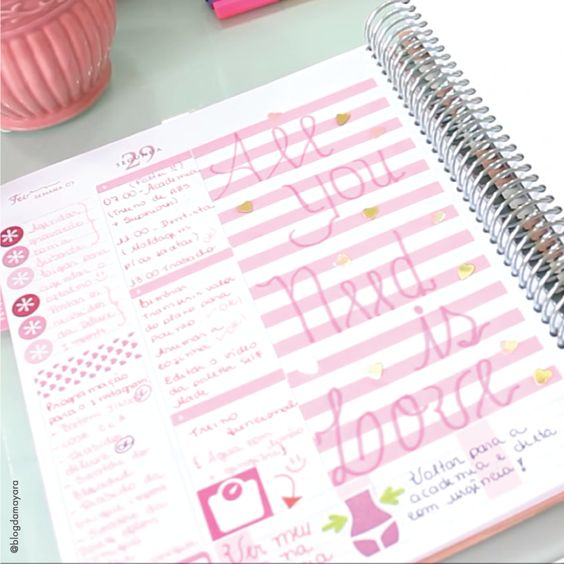 All you is love...and a Daily Planner! Deixe seus dias mais divertidos e alegres. #meudailyplanner #dailyplanner #decoration #plannerlove #plannerdecoration