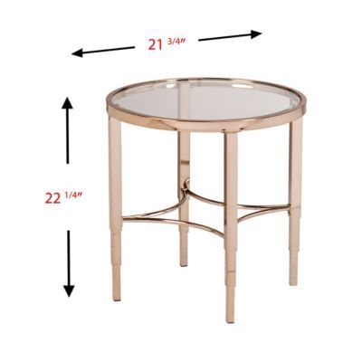 Closeout Devondale End Table Gold Side Table End Tables Table
