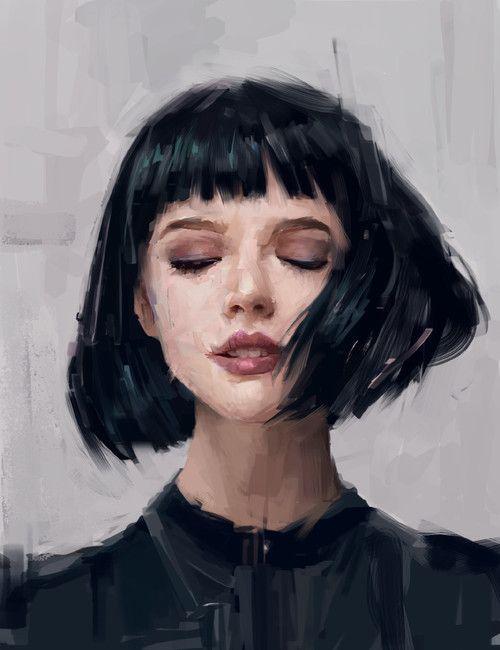 Short hair~cabelo curto~desenho drawing~Morena art~ ''branca de neve