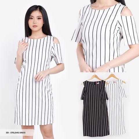 Baju Dress Wanita Model Stripe Garis Garis Sorabel By Sale Stock Dress 2019 Gaun Wanita Pakaian Wanita
