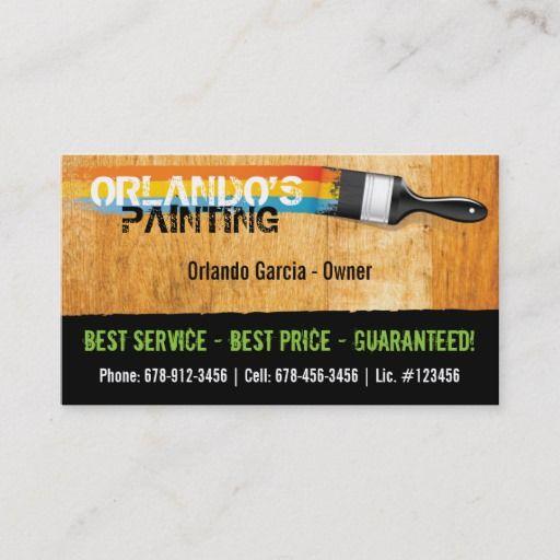 Painter S Business Card Painter Business Card Business Cards Decorator Business Card
