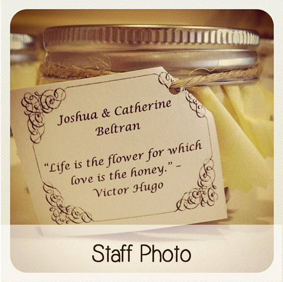 Cute Wedding Favor Sayings : honey favors for wedding and more favors for wedding a quotes wedding ...