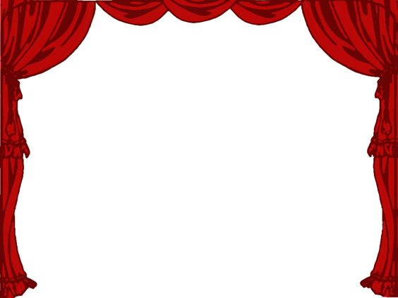 Stage Curtain Clipart Black And White theatre borders ...