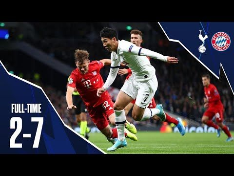 Tottenham Hotspurs Vs Bayern Munich Goals 2 7 Champions League Youtube Tottenham Uefa Champions League Champions League