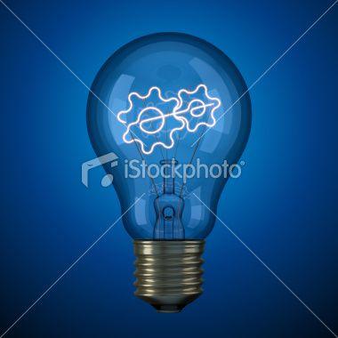 Lightbulb innovation concept