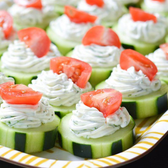 These fresh Dilly Cucumber Bites make a great healthy appetizer or snack!
