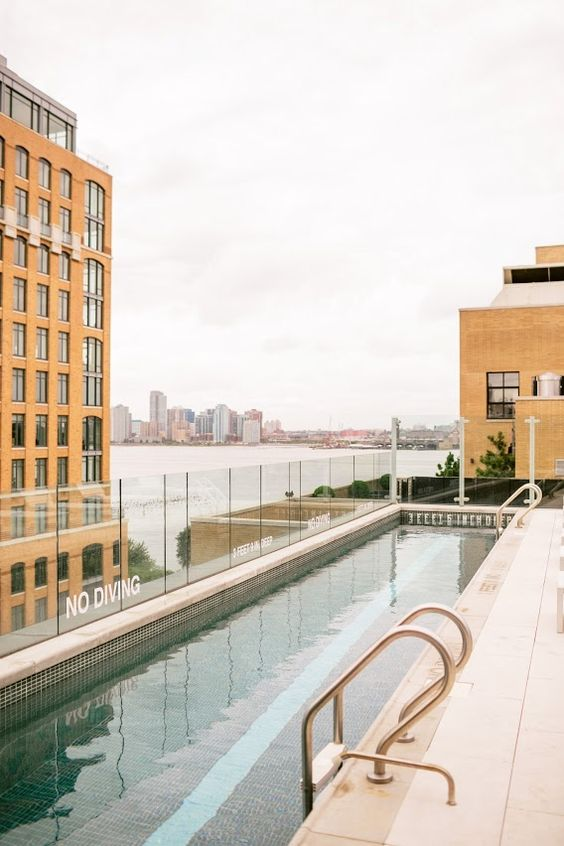 amazing pool on the roof in NYC: A CUP OF JO: Swimming lessons on the roof!