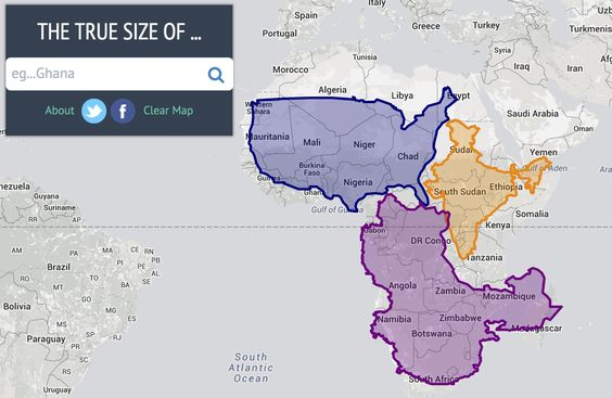 Drag and drop countries around the map to compare their for World countries by size