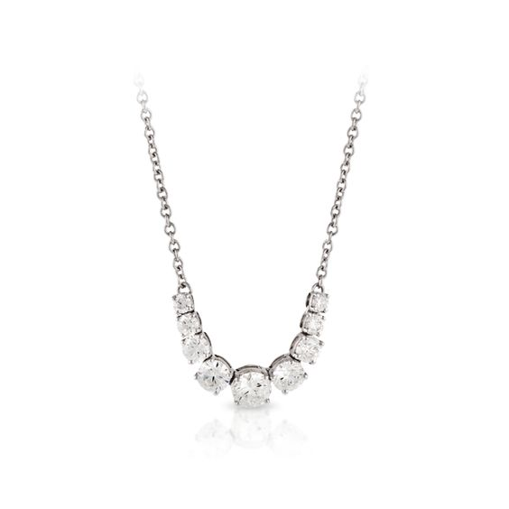 18ct White Gold Necklet | Hardy Brothers