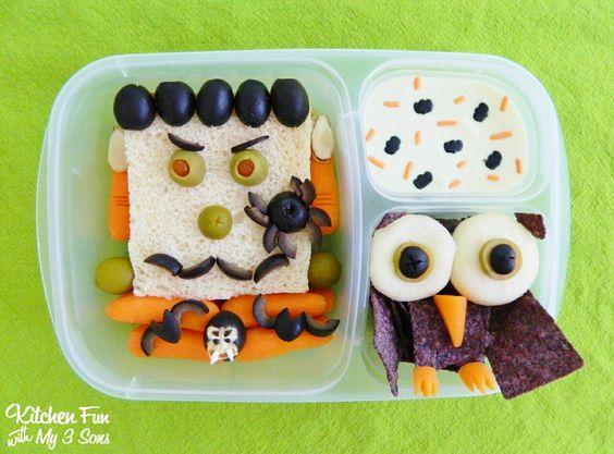 Halloween Frankenstein Bento Lunch