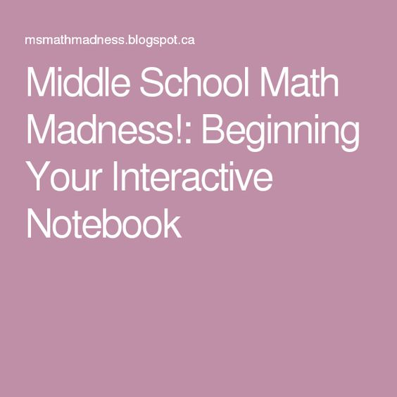 Middle School Math Madness!: Beginning Your Interactive Notebook