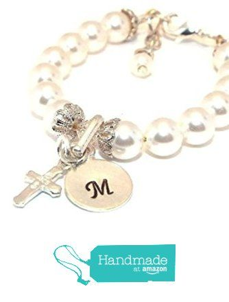 Baby Pearl Bracelet Christening Baptism First Communion Flower Girl Baby Shower Gift from Chelle Bullington http://www.amazon.com/dp/B015YEIDM8/ref=hnd_sw_r_pi_dp_OI9fwb0B088NF #handmadeatamazon