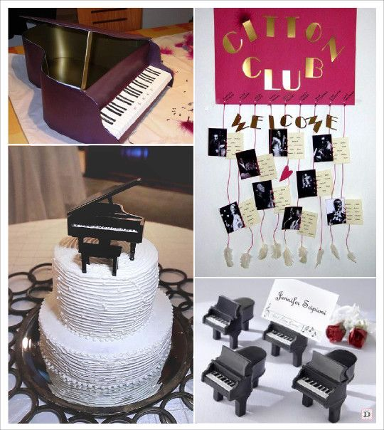 mariage musique faire part jazz urne piano plan de table marque place piano sujet pi ce mont e. Black Bedroom Furniture Sets. Home Design Ideas