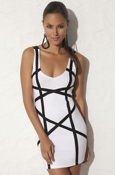 Omg love this!  CRISS CROSS OPEN BACK PONTE TANK DRESS ($24.90)