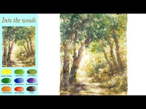 Ohne Skizze Landschaft Aquarell In Den Wald Arches Rough Namil