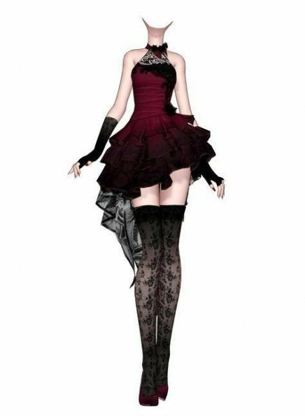 Anime Black Dress : anime, black, dress, Ideas, Dress, Black, Gothic, Outfit, Fashion, Design, Drawings,, Design,, Clothes