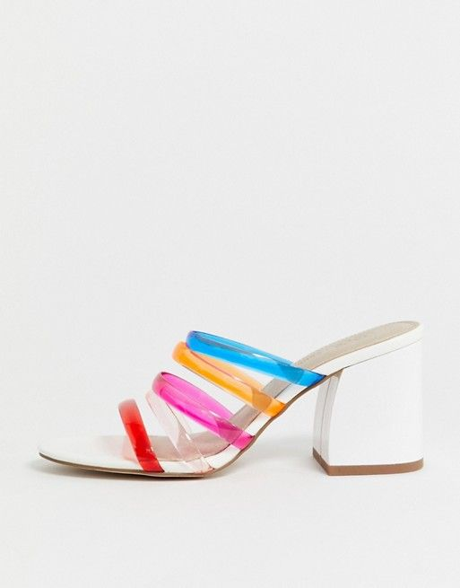 ASOS DESIGN Hanson clear block heeled