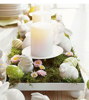 table centerpiece.....Deko-Idee: