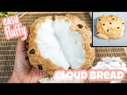Cloud Bread Mudah Selembut Awan Resep Viral Tiktok Youtube Di 2020 Cloud Bread Roti Resep Roti