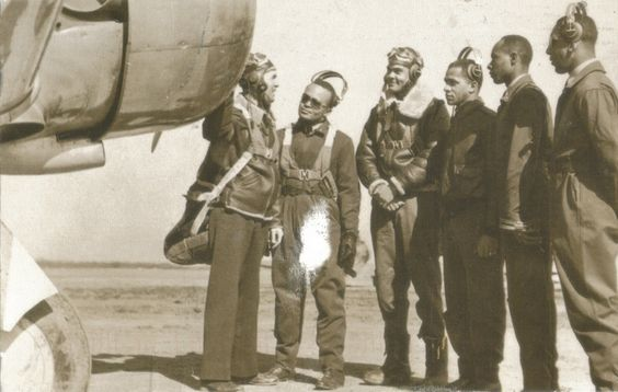 In 1942 the Army Air force opened a training post for colored pilots at Tuskegee Institute. One unit, te332nd Flight Group, flew over 3000 missions and destroyed over 400 enemy planes. USA Postcard reprint.