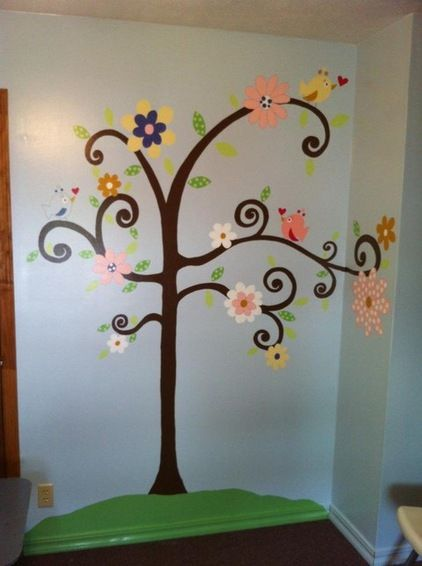 For the nursery re decorating church stuff pinterest for Church nursery mural