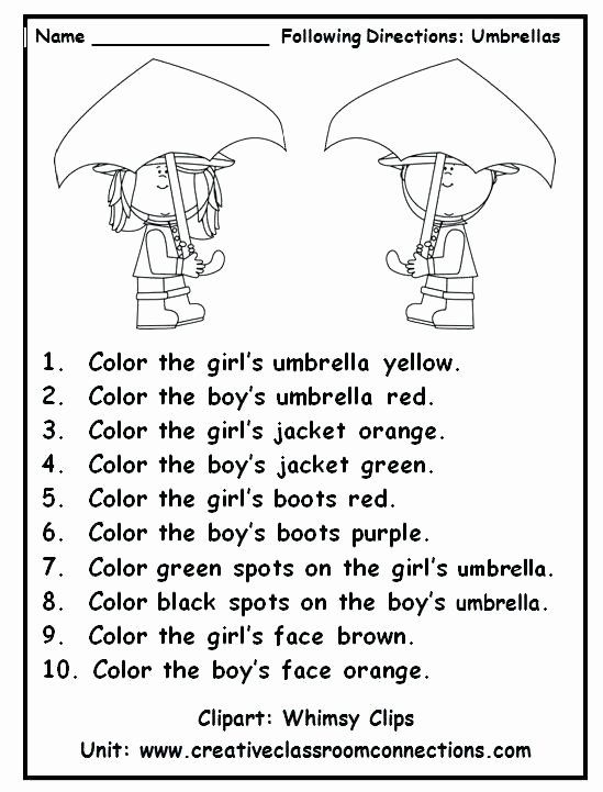Following Directions Printables Listening Worksheets For Kindergarten Free  Reading 1st Grade Reading Worksheets, English Activities, Reading  Worksheets
