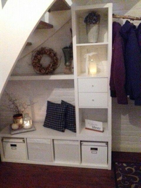 Garderobe Unter Der Treppe Mit Kallax Garderobe U Ikea Garderoben Ideen Schrank Unter Treppe Garderoben Unter Treppen