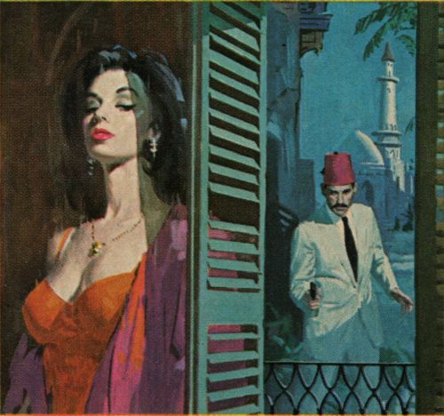Robert  Maguire's cover art for Arabesque