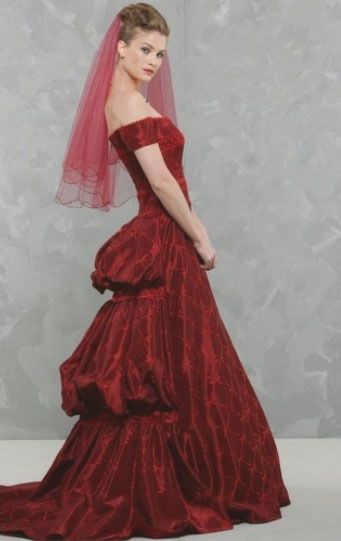 Robe Pronuptia Couture Rouge My Fair Lady d'occasion